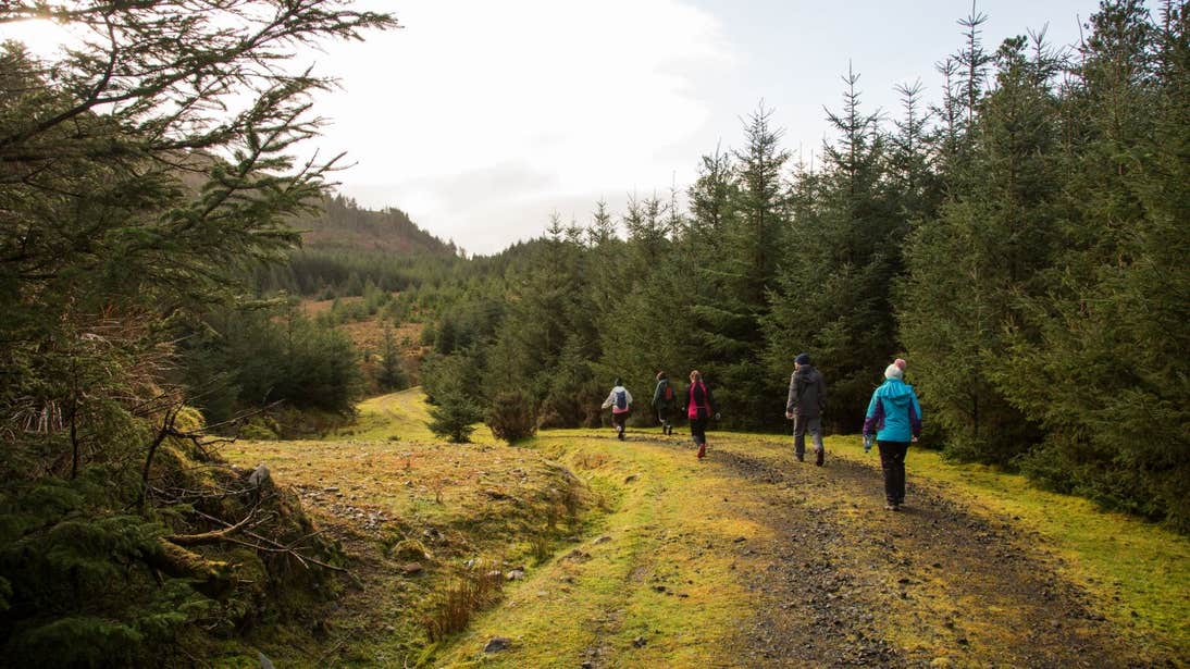 People hiking through Wild Nephin Ballycroy National Park in Mayo