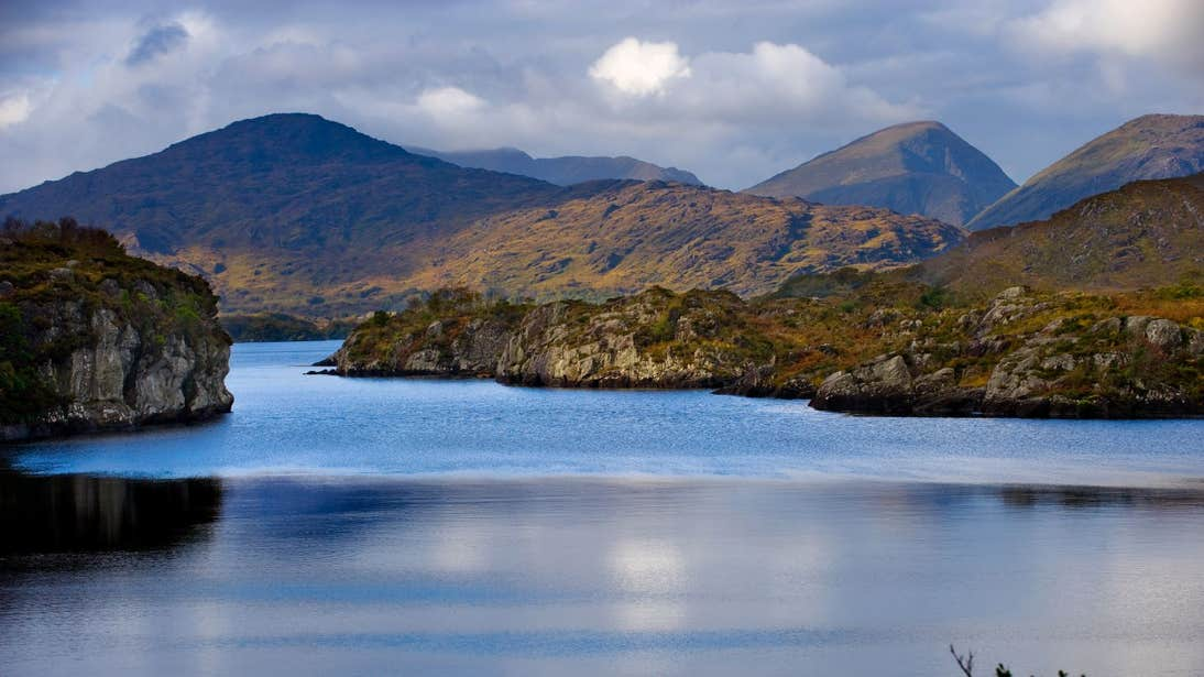 Reflections on the water of Killarney Lakes, Co. Kerry
