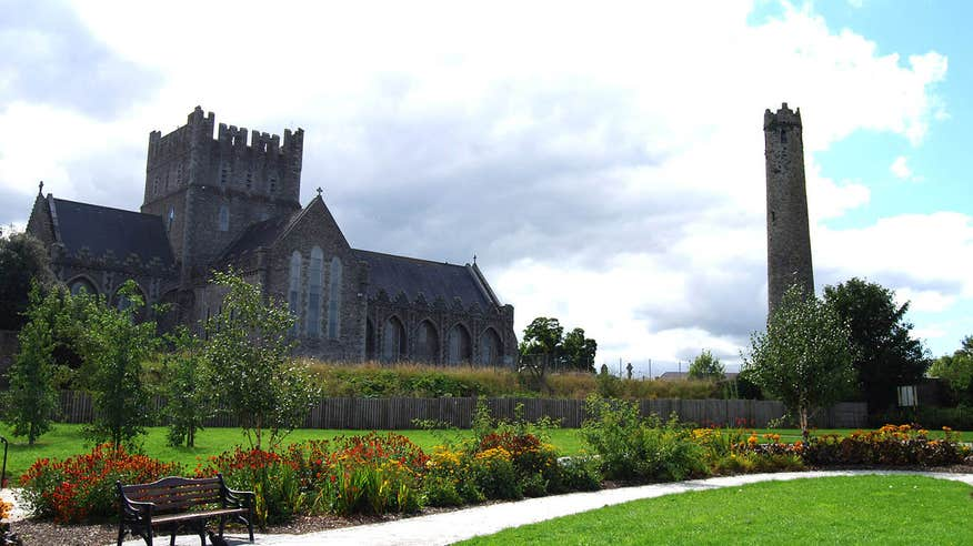 View of St. Brigid's Cathedral in Kildare town.