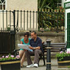 Image of a couple looking at a map in Enniskerry in County Wicklow