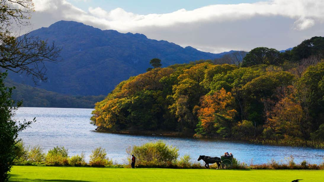 View of the lake and mountains, Killarney, Co. Kerry