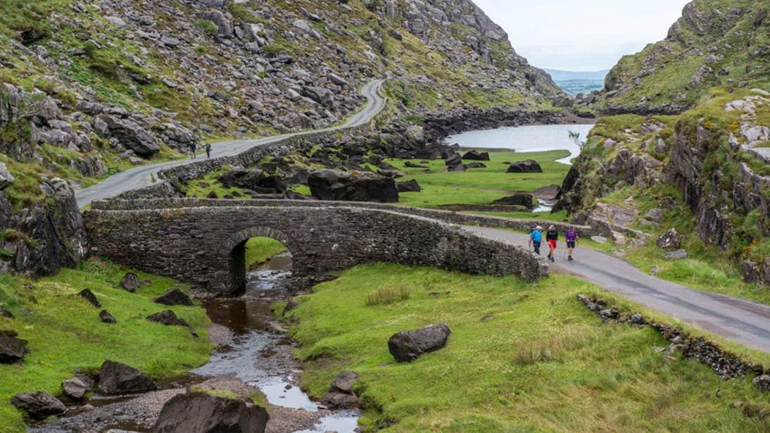 People walking near Ross castle, Killarney, Kerry