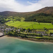 Aerial view of Carlingford town, County Louth