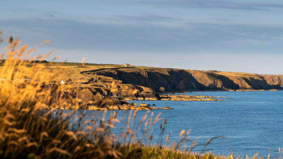 Golden light on Trawnamoe Cove, Bunmahon, Waterford