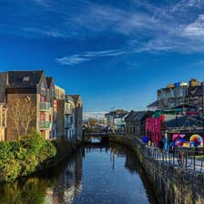 Image of colourful buildings along Eglinton Canal, Galway City