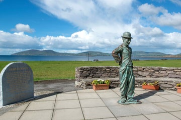 Image of the Charlie Chaplin statue in Waterville in County Kerry
