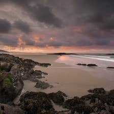 Owenahincha Beach in Rosscarbery in County Cork at sunset