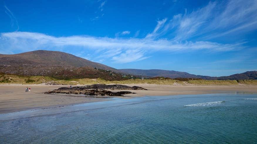 Stop off at beautiful Derrynane Beach in Caherdaniel.