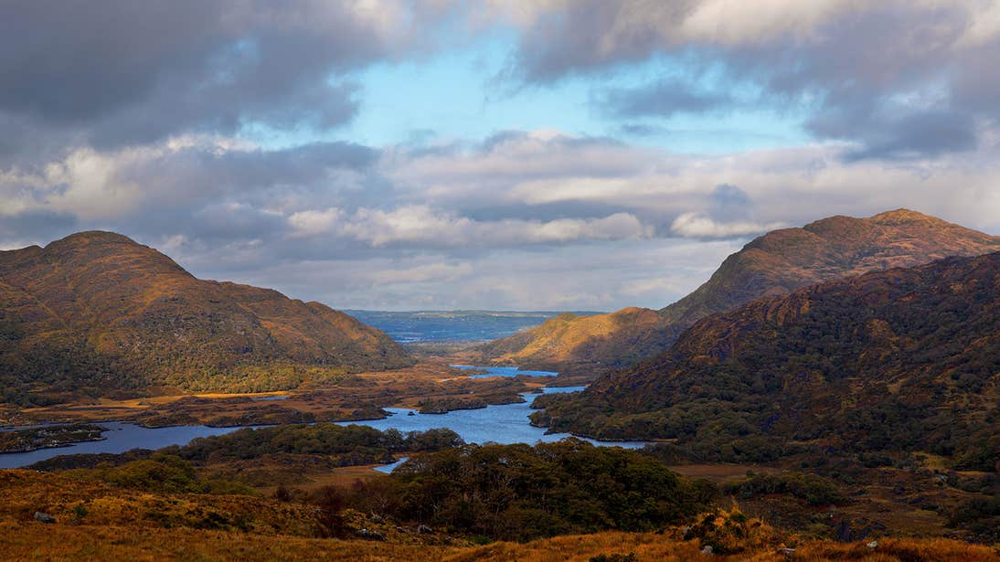 Lakes surrounded by mountains in Co. Kerry