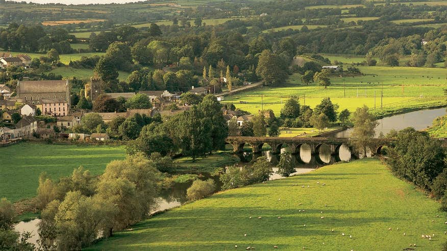 Enjoy peaceful Inistioge on the Nore Valley Walk.