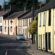 A row of houses in Kells in County Meath