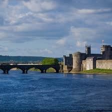 A bridge leading to King John's Castle, Limerick City