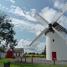 View of Elphin windmill with small building to the left