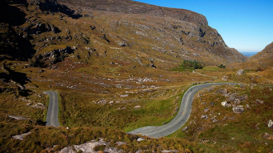 A quiet road in the hills by the Gap of Dunloe, Ring of Kerry