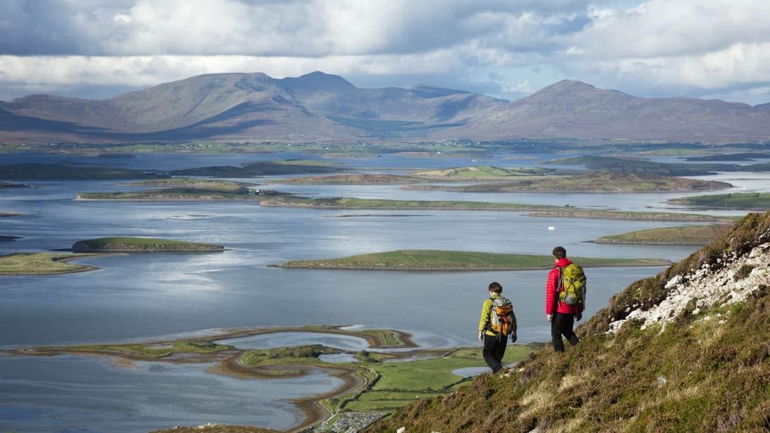 Hikers on Croagh Patrick, Co. Mayo