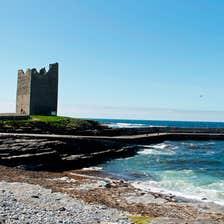 Pier and tower at Easkey, County Sligo