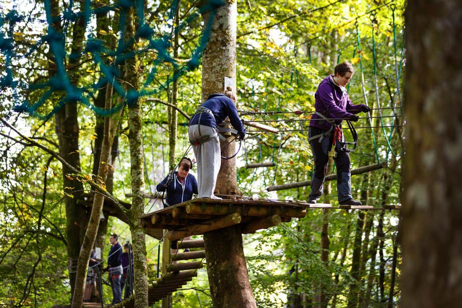 Image of people at Zipit in Lough Key Forest Park in County Roscommon