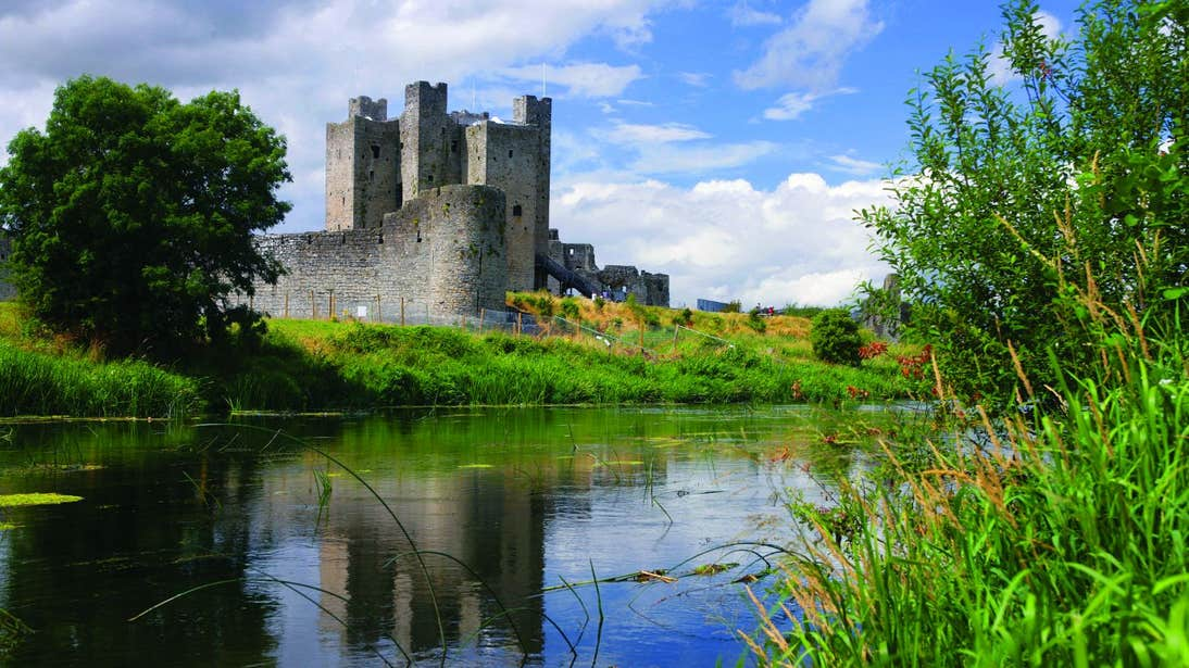 A view of Trim Castle from the banks of the River Boyne