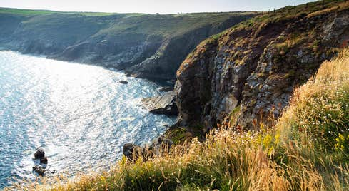 View of the cliffs at Ardmore, County Waterford