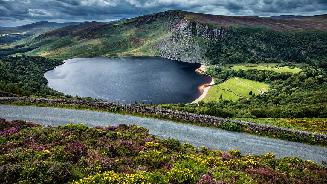 A stunning view of the mountains around Lough Tay, Wicklow