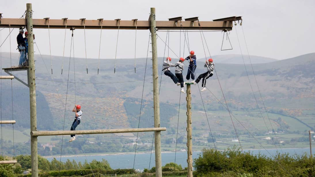 People at the Adventure Centre, Carlingford, County Louth
