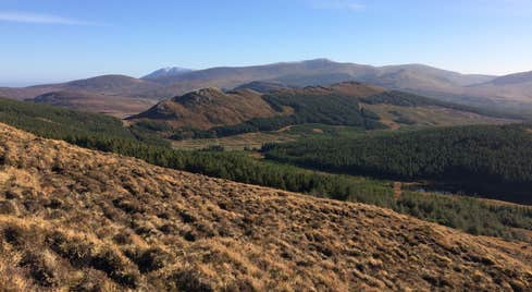 Blue skies and mountain views at Wild Nephin Ballycroy National Park