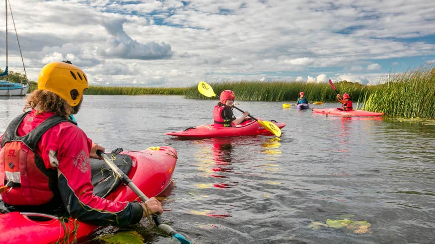 Get out onto Lough Derg in a kayak.