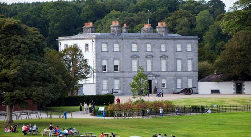 OPen parkland in front of Battle of The Boyne Visitor Centre, Meath
