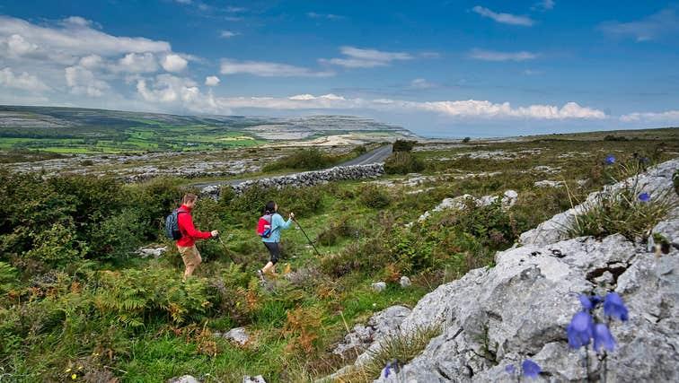 Walkers in the Burren, County Clare