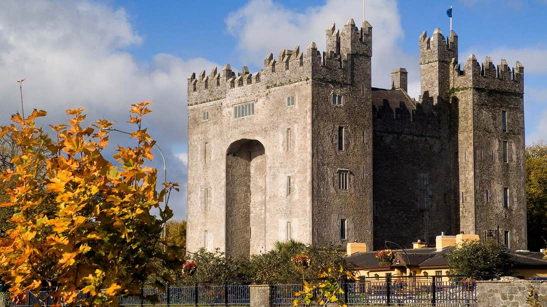 Bunratty Castle in Co. Clare on a cloudy day
