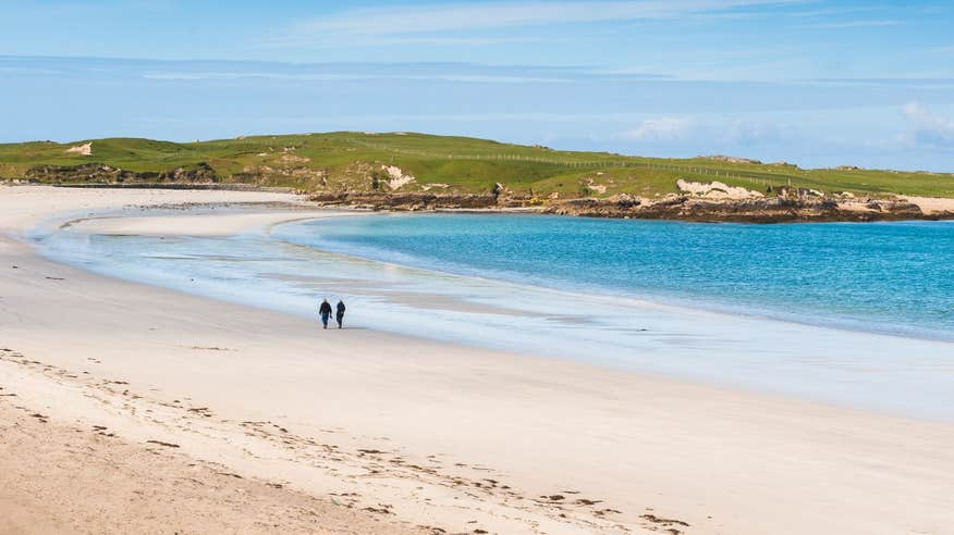 Make time for a stroll on glorious Dog's Bay Beach.