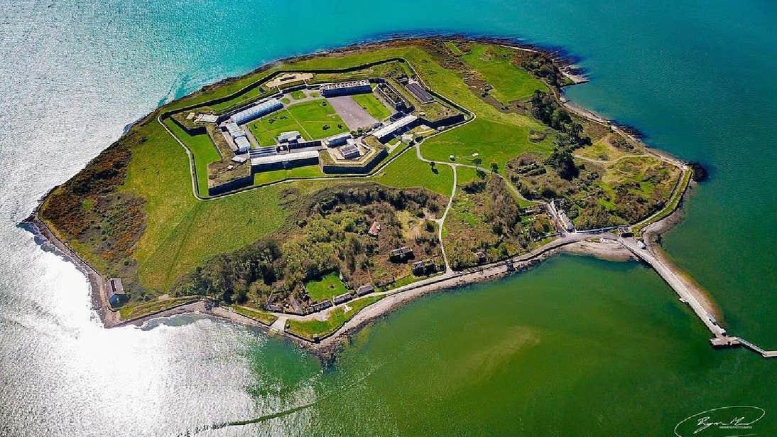 Spike Island off the coast of Cobh in County Cork